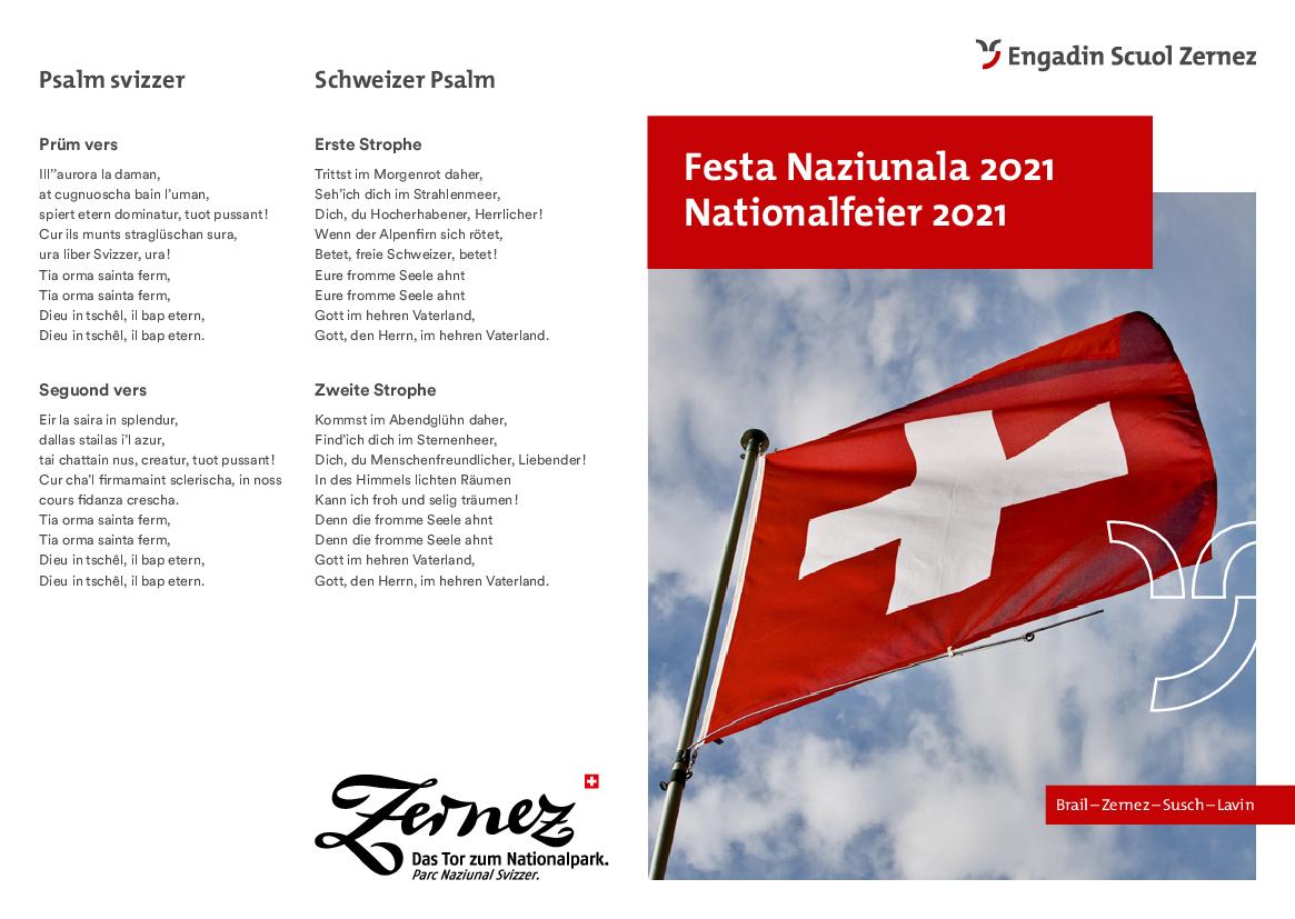 Programm Nationalfeiertag