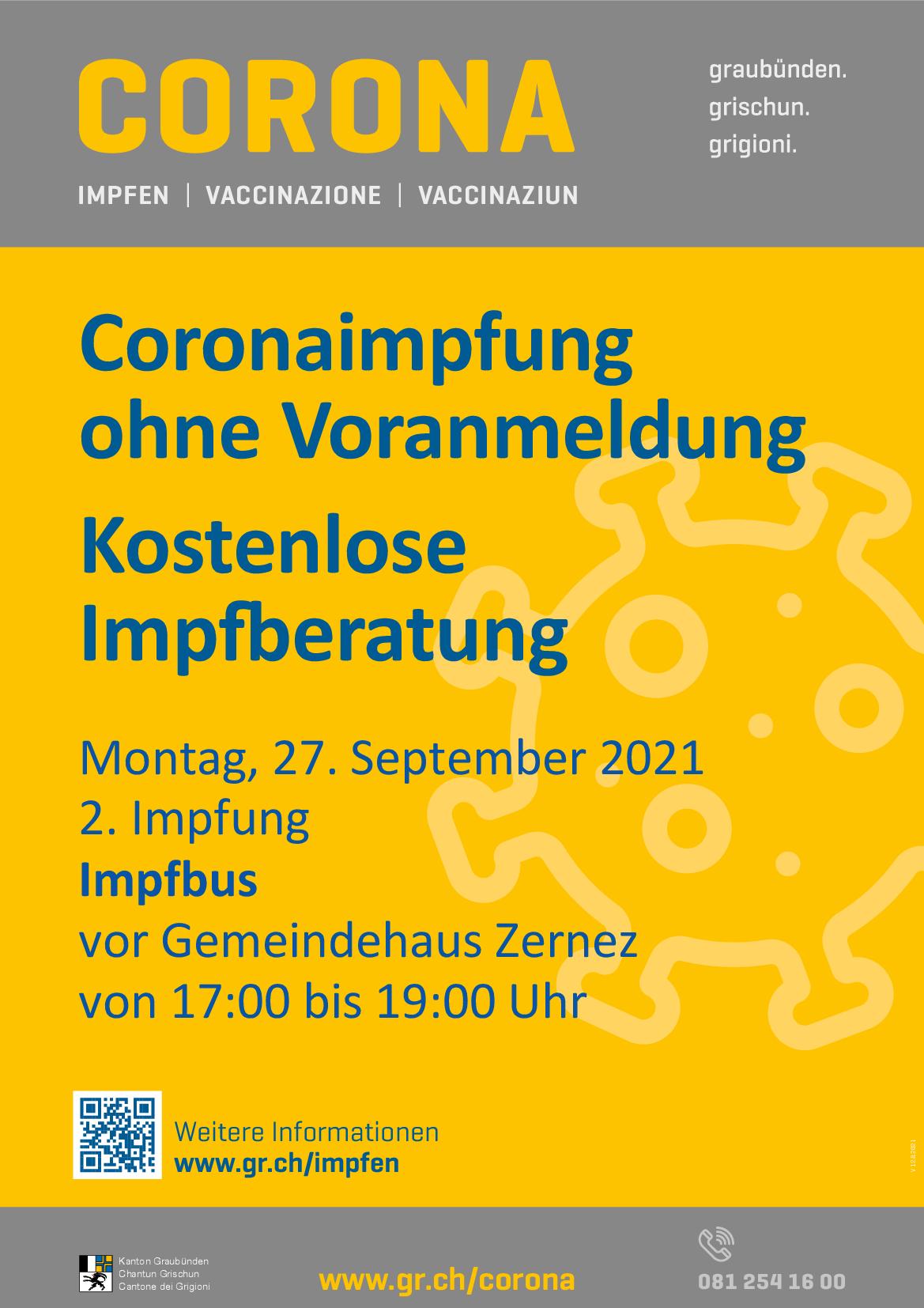 Impfbus Tour Graubünden - 2. Impfung