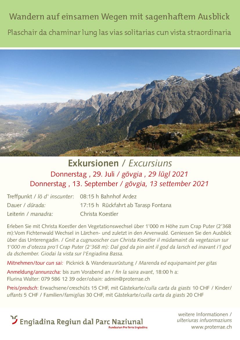 Pro Terra Engiadina - Wandern auf einsamen Wegen mit sagenhaftem Ausblick