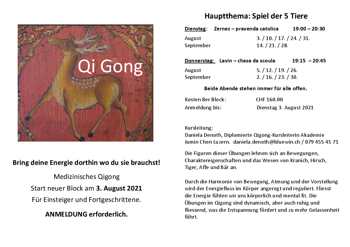 Qi Gong Sommer 2021