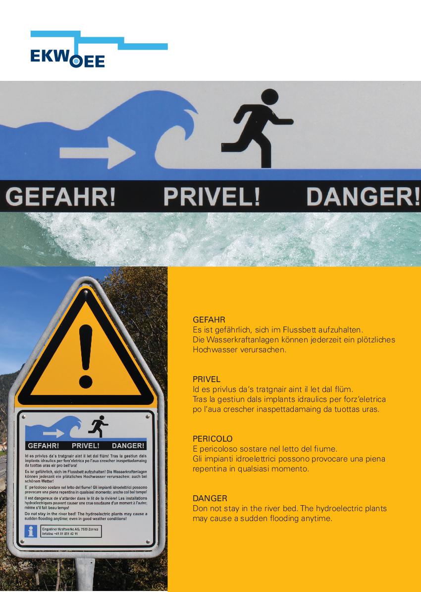 Warnung vor Schwallwasser