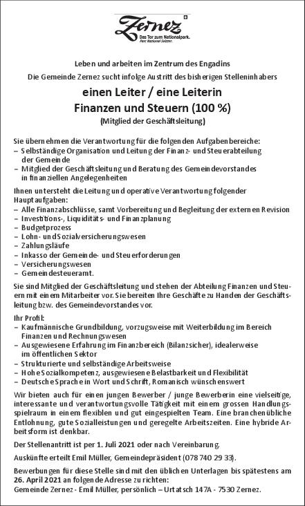Inserat - manader finanzas 100%