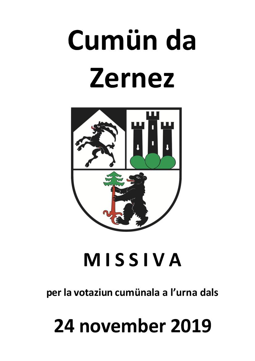 Votaziun cumünala a l'urna dals 24 november 2019