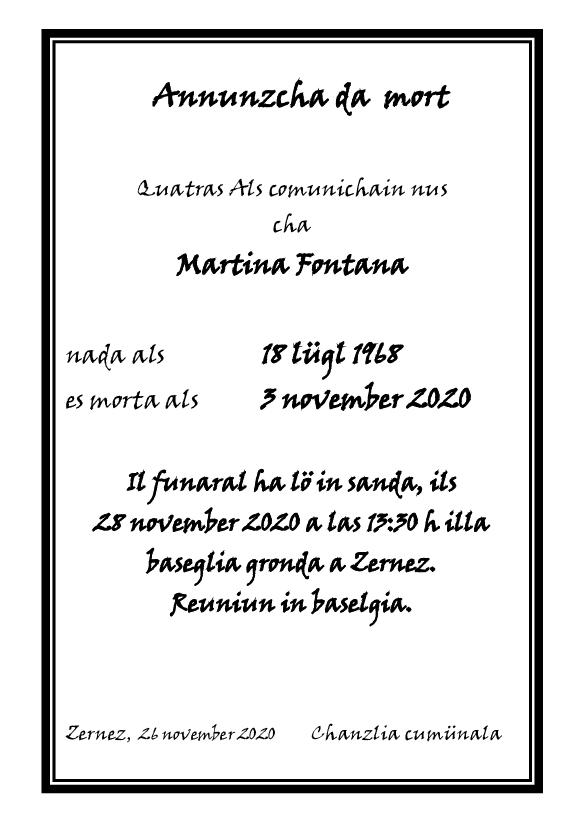 Mortori - Martina Fontana - 03.11.2020