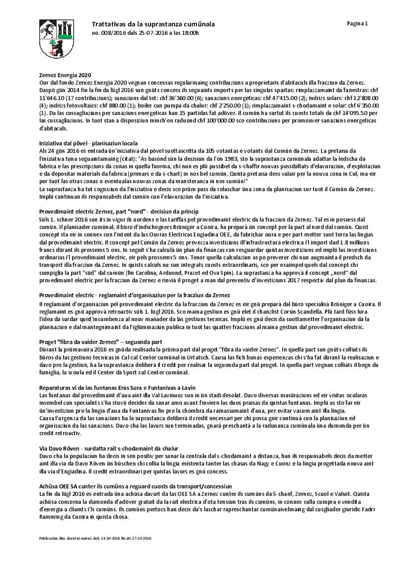 Protocol 008-2016 dals 25-07-2016