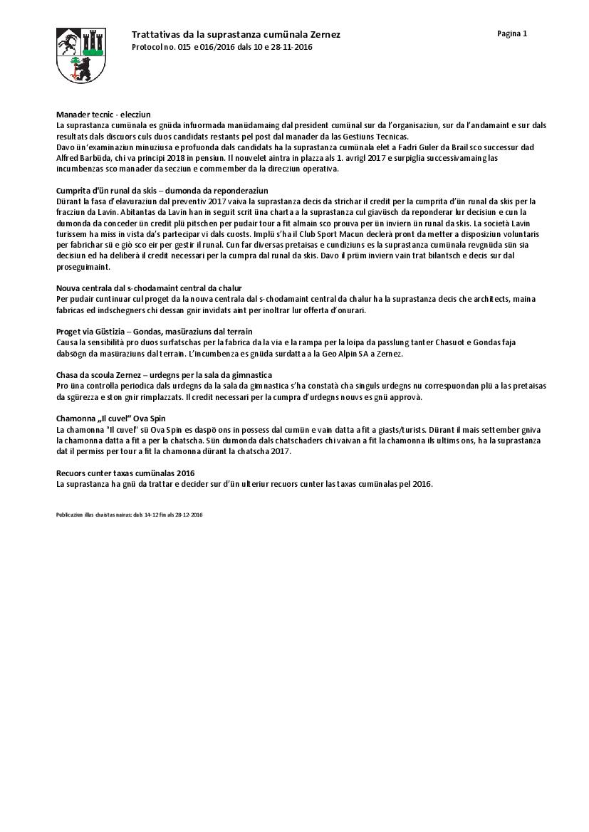 Protocol 015+016-2016 dals 10 e 28-11-2016