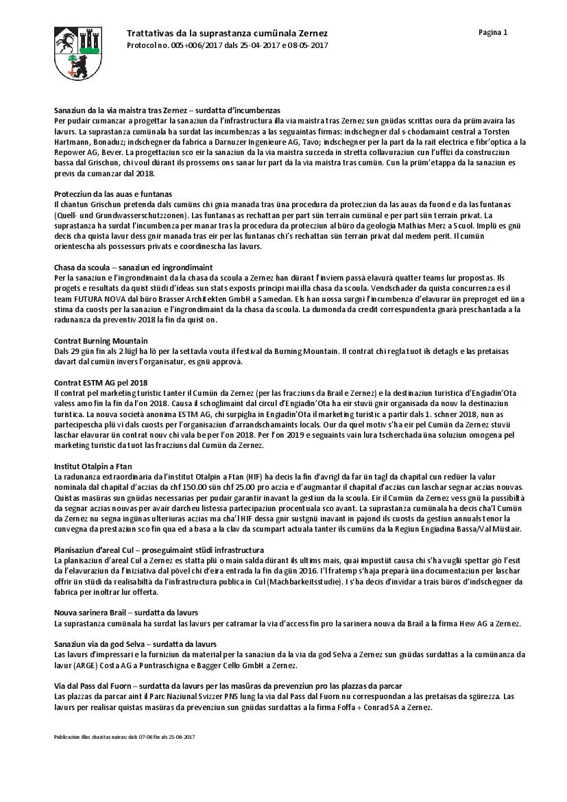 Protocol 05+06-2017 dals 25-04-2017 e 08-05-2017