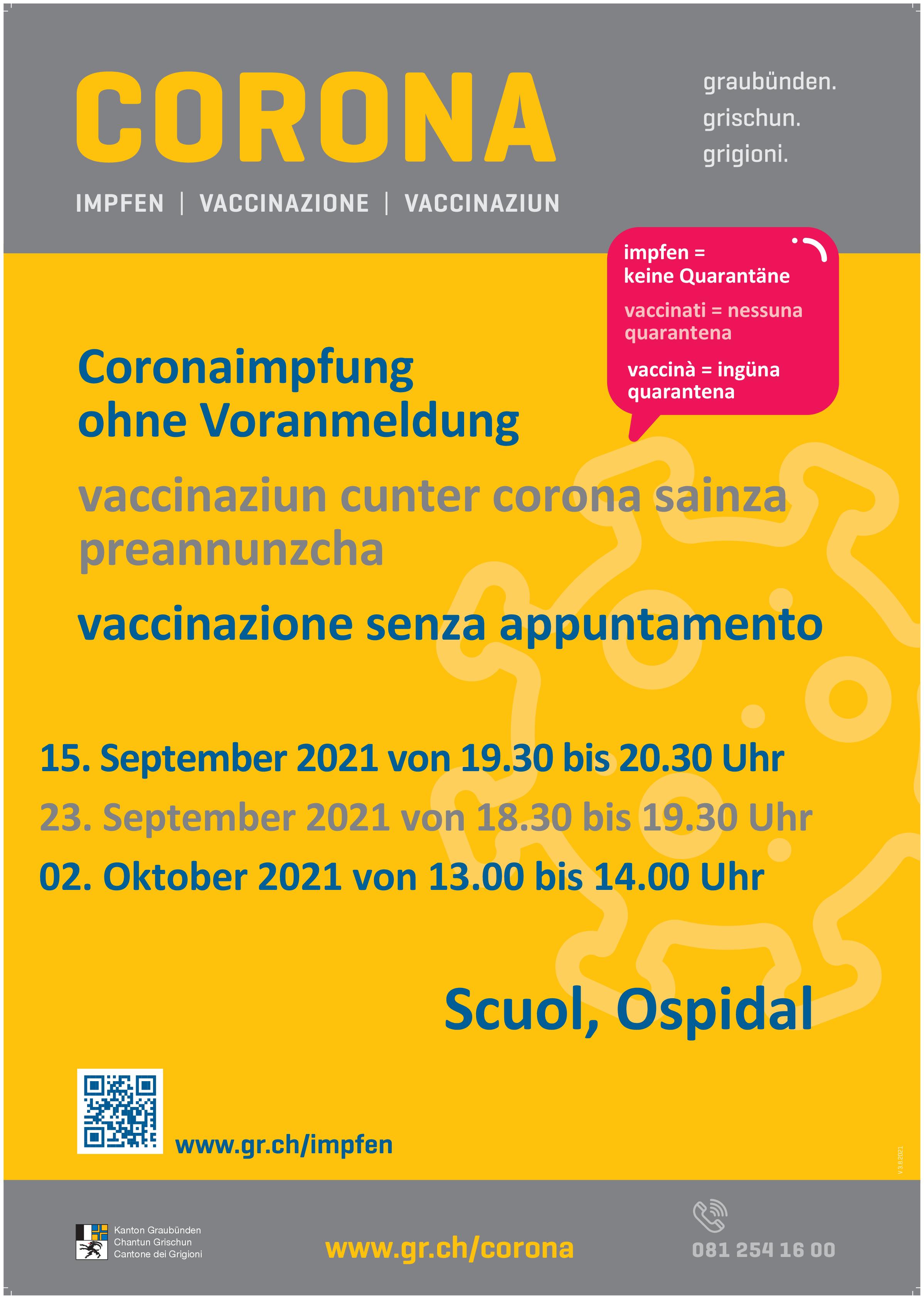 Impfangebot Scuol
