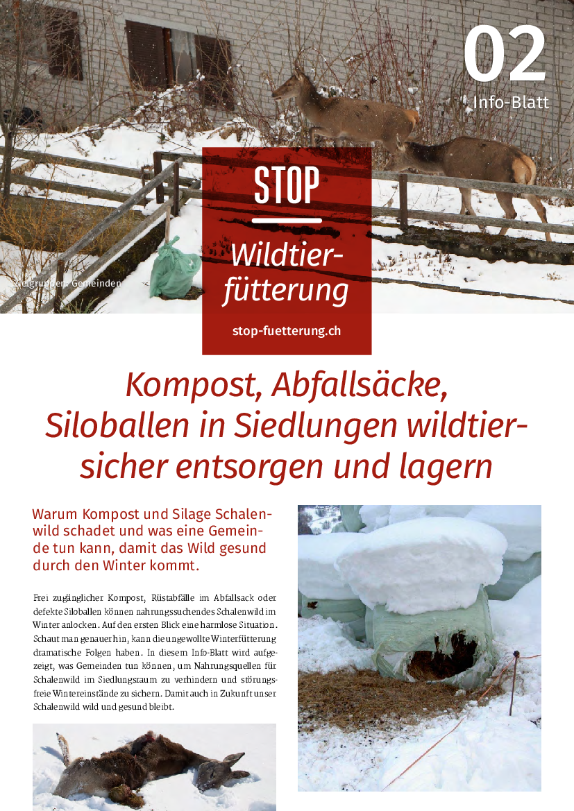 Stop Wildfütterung