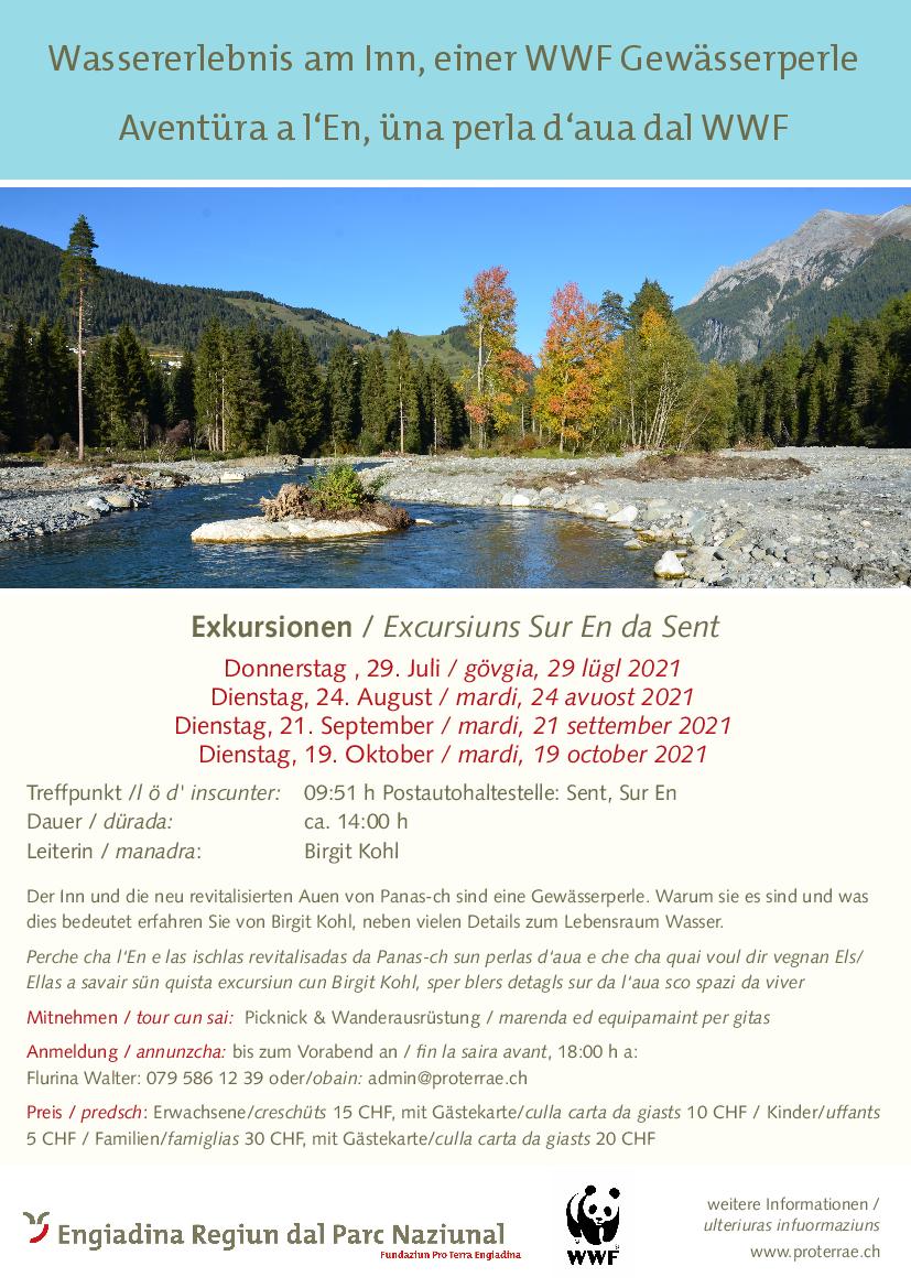 Pro Terra Engiadina - Wassererlebnis am Inn, einer WWF Gewässerperle
