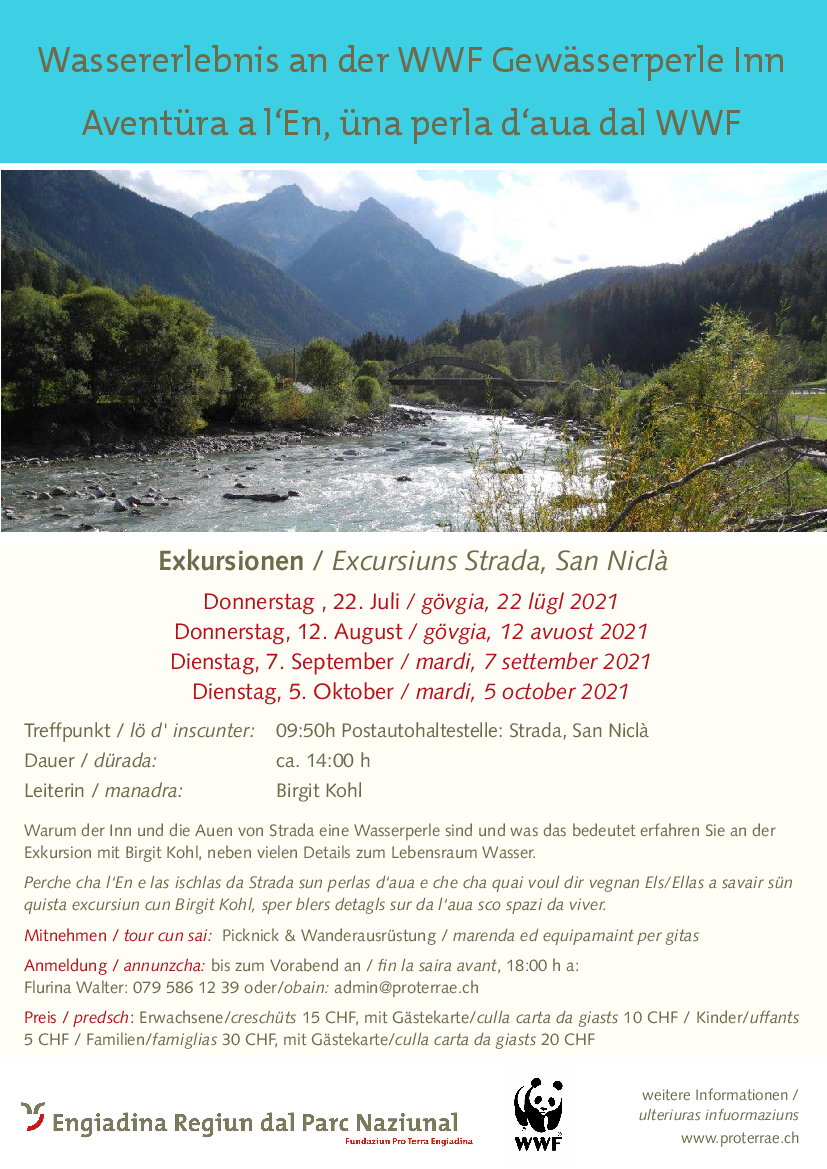 Pro Terra Engiadina - Wassererlebnis an der WWF Gewässerperle Inn