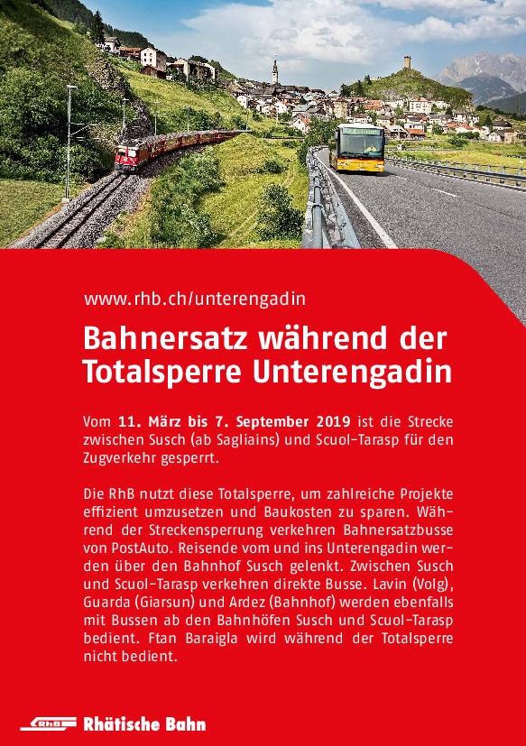 Bahnersatz Susch - Scuol