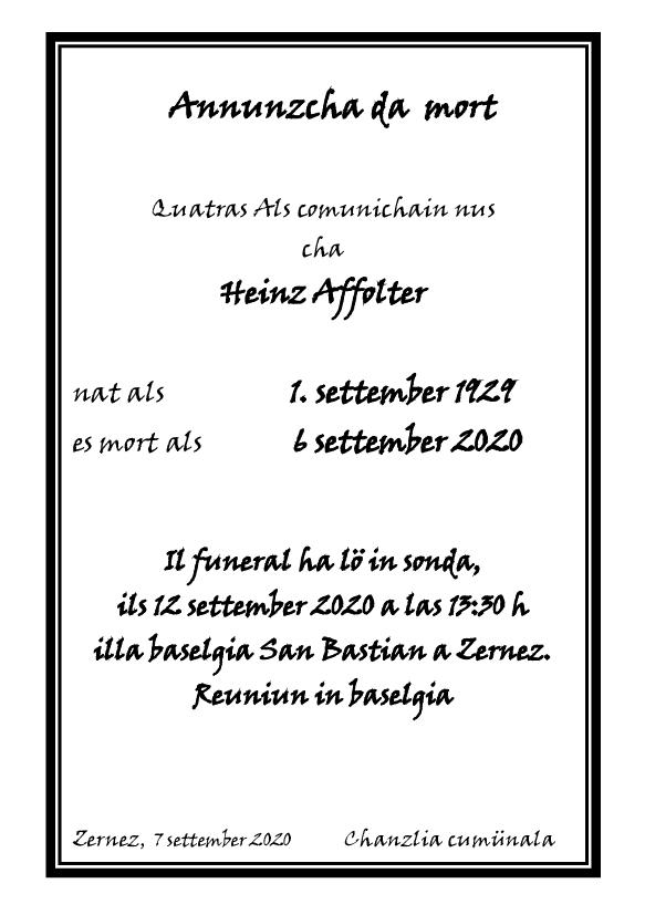Mortori - Heinz Affolter - 06.09.2020